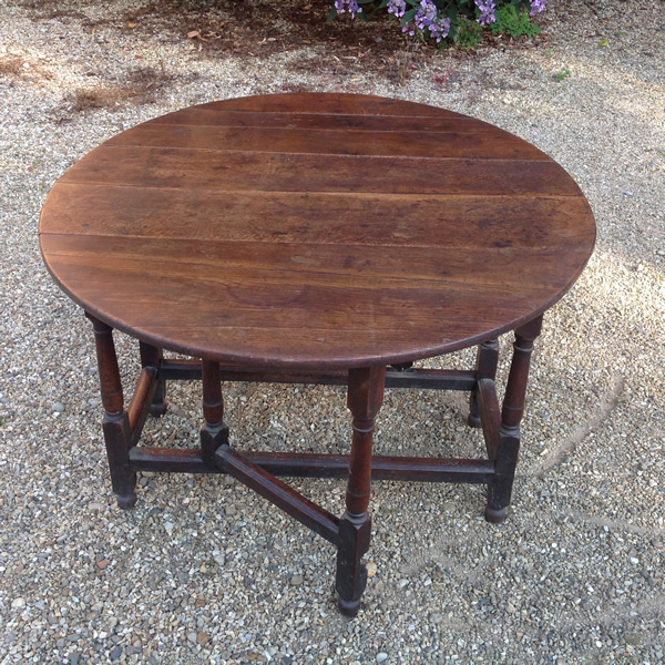18th Century oak gate table open 1
