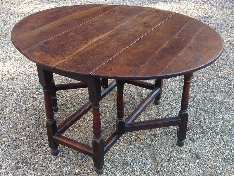 18th Century oak gate table