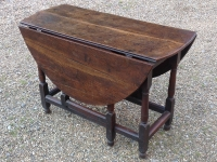 18th Century oak gate table leaves down