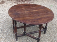 18th Century oak gate table open 2