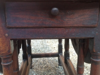 18th Century oak gate table with drawer