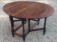 18th Century oak gate table