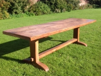 Imposing 19th century French Provincial farmhouse table in ash from side