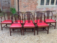 Eight 18th century dining chairs