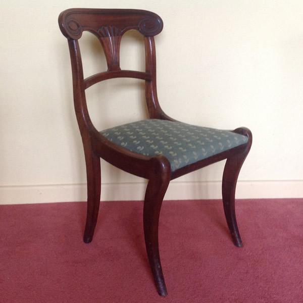 Regency sabre leg chair one of pair