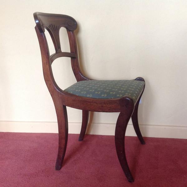 Regency sabre leg chair side