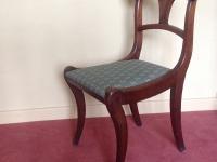 Mahogany sabre leg chair one of pair