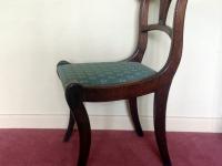Mahogany sabre leg chair side