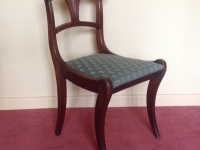 Regency sabre leg chair one of pair