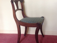 Regency sabre leg chair side