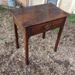 18th century walnut side table.