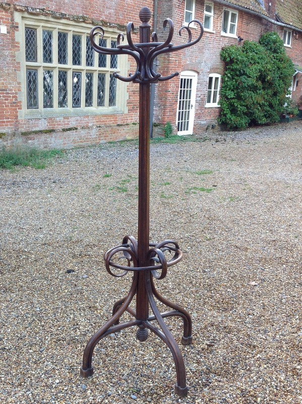 1-Fine Antique Bentwood Hat and Coat stand