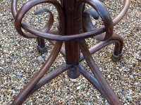 1-Fine Antique Bentwood Hat and Coat stand detail of base