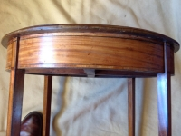 1-Antique circular satinwood lamp table - detail