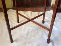 1-Antique circular satinwood display table - detail of legs
