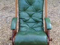 Arts and crafts leather campaign chair