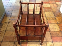 1-Antique mahogany canterbury magazine rack