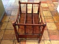 1-Antique mahogany canterbury magazine rack