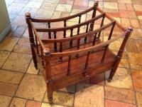 1-Antique mahogany canterbury