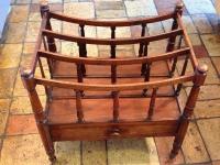 1-Fine antique mahogany canterbury magazine rack