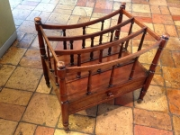1-Fine antique mahogany canterbury