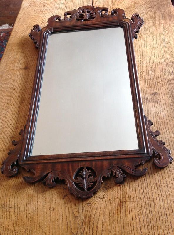 1-Antique-George-III-mahogany-fret-mirror-full2