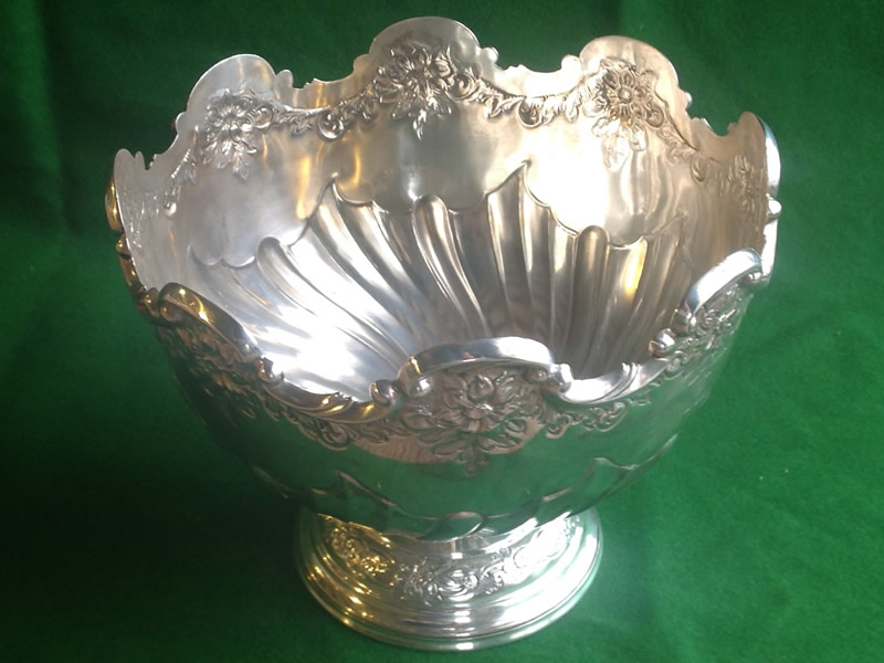 Silver rose bowl