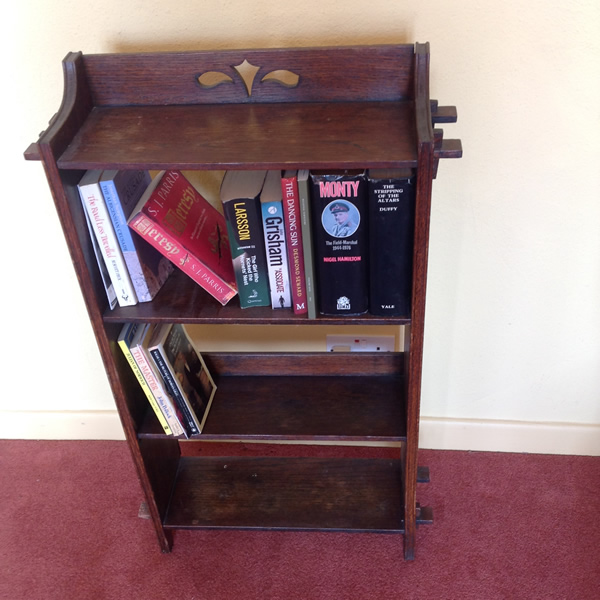 Antique arts and craft bookcase top2