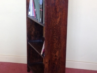 Antique arts and craft bookcase side