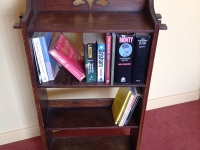 Antique arts and craft bookcase top