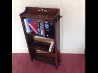 Antique arts and craft bookcase corner