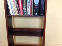 Antique arts and craft bookcase front