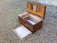 19th century Camphor Wood Campaign Trunk