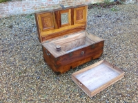 Antique Camphor Wood Campaign Trunk