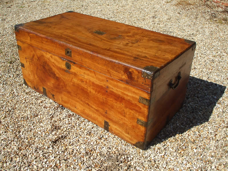 ... campaign camphorwood chest / trunk | Kirstead Antique Restoration