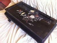 20th-Century-black-lacquer-Chinese-low-table-side