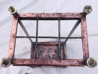 Arts and Crafts copper and brass Stick Stand with Art Nouveau influence
