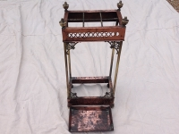 Copper and brass Stick Stand with Art Nouveau influence