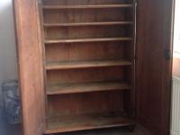 Early Victorian cupboard both doors open