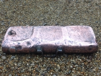 18th century copper foot warmer