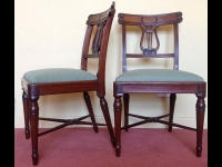 Georgian mahogany chairs front and side