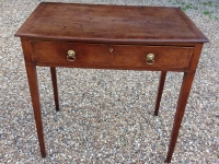 Georgian mahogany side table - front