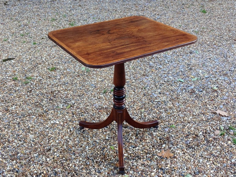 1-Fine Georgian mahogany tripod table with tip up top