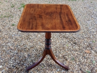 1-Georgian mahogany tripod table with tip up top