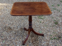 1-Georgian mahogany table with tip up top