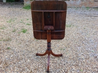 1-Georgian mahogany tripod table with tip up top - tipped up