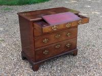 Georgian mahogany chest writing drawer at an angle
