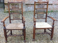 Antique ladder back chairs