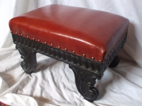 antique-stool-moroccan-leather