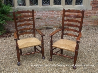 Pair of 18 century ladder back chairs